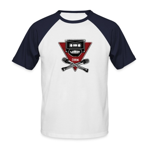 Red Sleeve Angry C - Männer Baseball-T-Shirt
