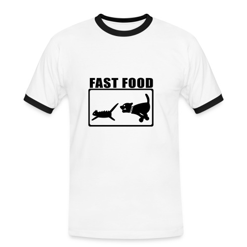 Snabbmat - Kontrast-T-shirt herr