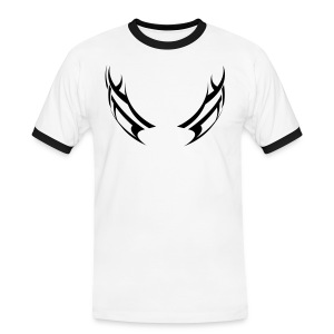 Mens Slim Contrast T-Shirt - Eyes - Men's Ringer Shirt
