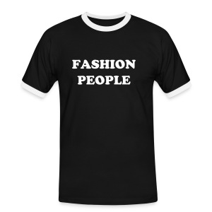 FASHION PEOPLE - T-shirt contrasté Homme