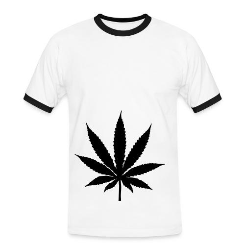 Feuille de cannabis - T-shirt contrasté Homme