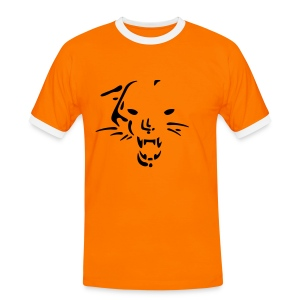 Wild Cat Slim Contrast Tee - Men's Ringer Shirt