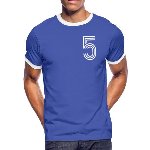 MANGELHAFT 5 [Deluxe Premium] - Männer Kontrast-T-Shirt