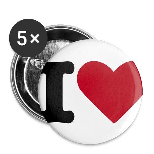 I Love Buttons 5er Pack(!) - Buttons mittel 32 mm