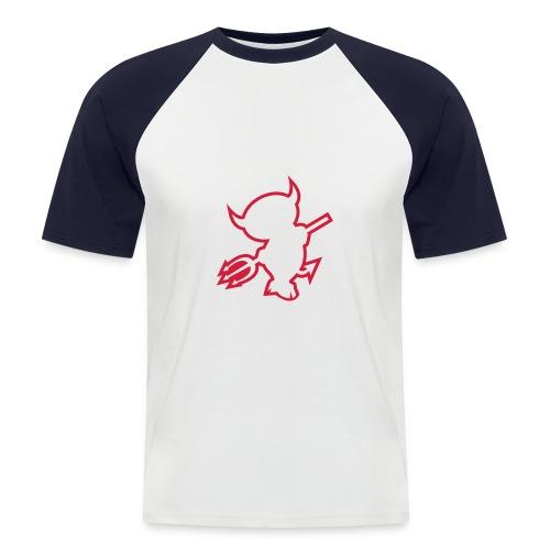 Devil - Kortermet baseball skjorte for menn
