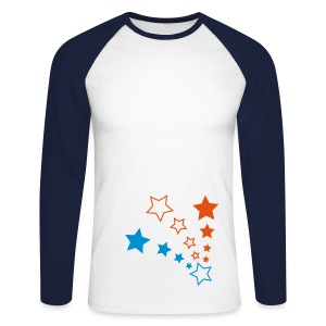 Raglan 'Stars' Longsleeve - Men's Long Sleeve Baseball T-Shirt