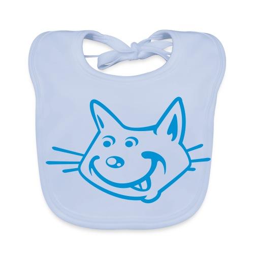 Bavoir bébé chat bleu - Bavoir bio Bébé