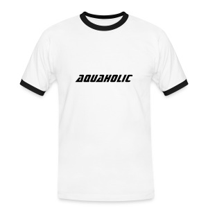 Mens Slim Fit Contrast T-Shirt - Aquaholic - Men's Ringer Shirt