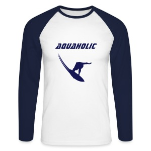 Men's Longsleeved Top - AquaHolic - Men's Long Sleeve Baseball T-Shirt