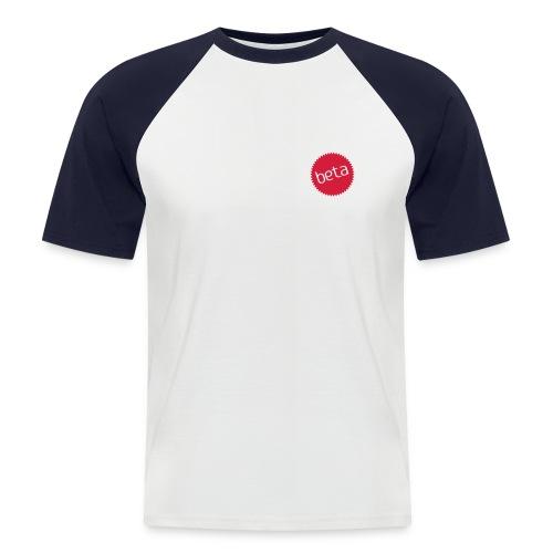 Beta Red/White - Men's Baseball T-Shirt