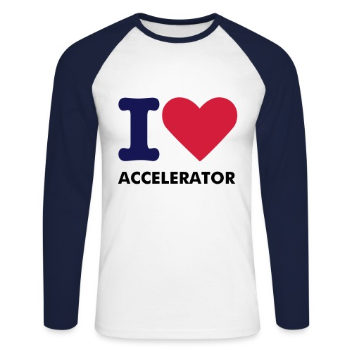 Accelerator love - Men's Long Sleeve Baseball T-Shirt