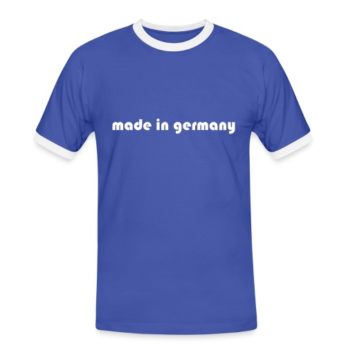 Made in Germany Blau/Weiss - Männer Kontrast-T-Shirt