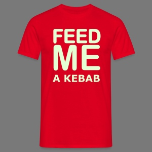 Feed me a Kebab (Glow in the Dark) - Men's T-Shirt
