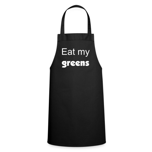 Black Eat My Greens Apron - Cooking Apron