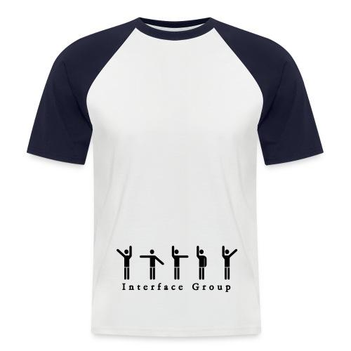 Tee Shirt Homme Blanc/Noir - T-shirt baseball manches courtes Homme