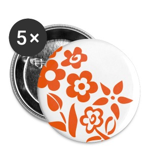conter fleurette - Badge petit 25 mm
