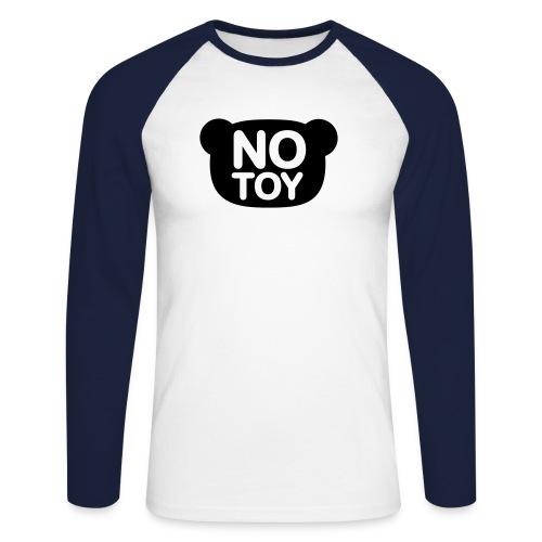 Heren NoToy. - Mannen baseballshirt lange mouw