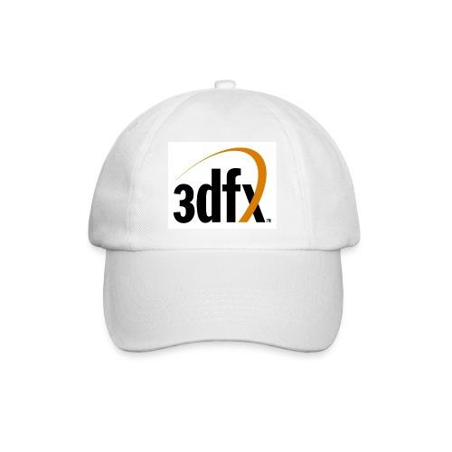 Weißes Basecap mit 3Dfx Logo - Baseballkappe