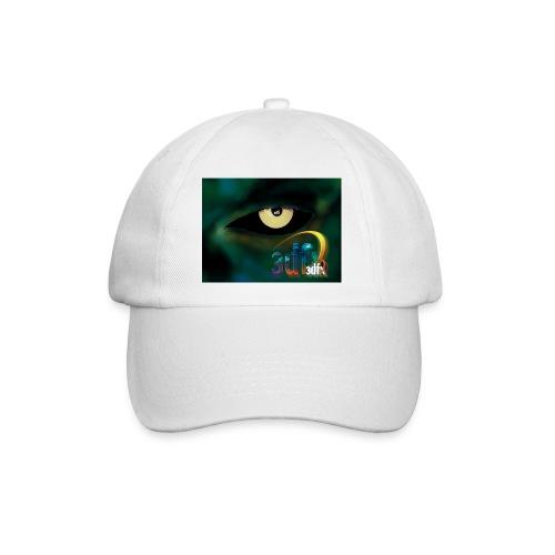 Weißes Basecap mit buntem 3Dfx Logo - Baseballkappe
