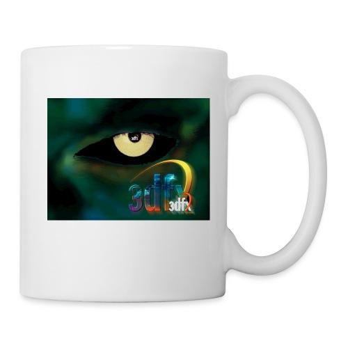 Weiße Tasse mit buntem 3Dfx Logo - Tasse