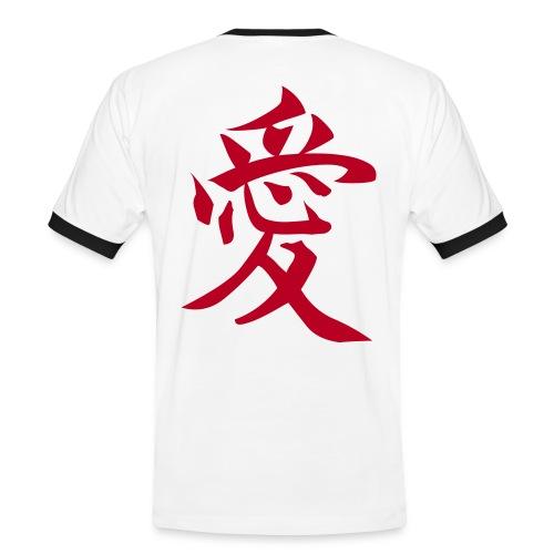 Zeichen der Liebe-Weiß - Männer Kontrast-T-Shirt