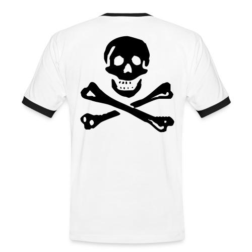 Skull Zeichen-Weiß - Männer Kontrast-T-Shirt