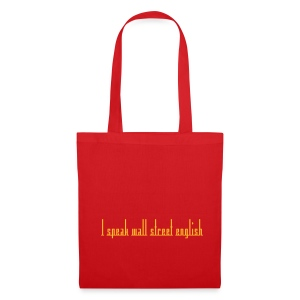 Sac I speak wall street english rouge - Tote Bag