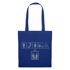 Sac Love Signs Bleu - Tote Bag