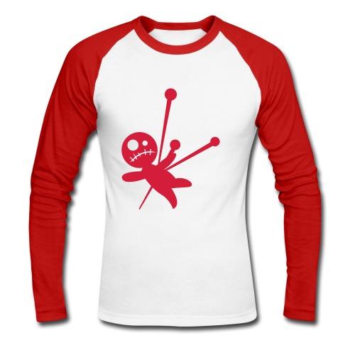 Langærmet herre-baseballshirt