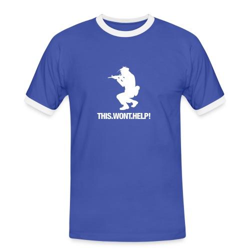 THIS WONT HELP - Männer Kontrast-T-Shirt