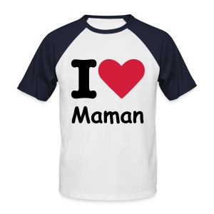 I Love Maman - T-shirt baseball manches courtes Homme