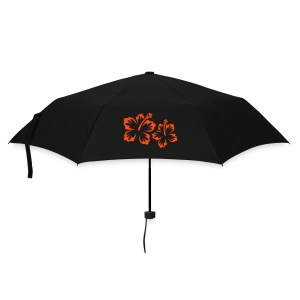 Umbrella (small) - black,orange,red,shop,umbrella