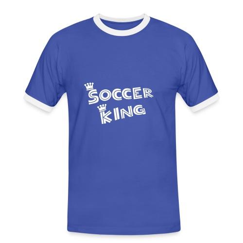 Vereinsshirt blau/weiss - Männer Kontrast-T-Shirt