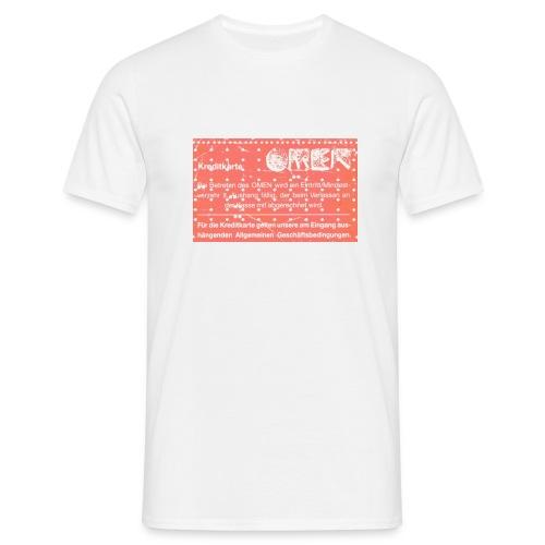 T-Shirt Kreditkarte - Männer T-Shirt