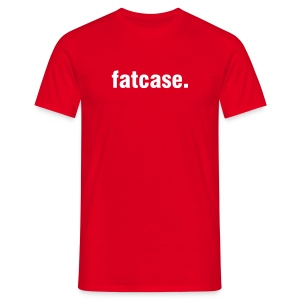 fatcase v1.0 Red/White - Men's T-Shirt