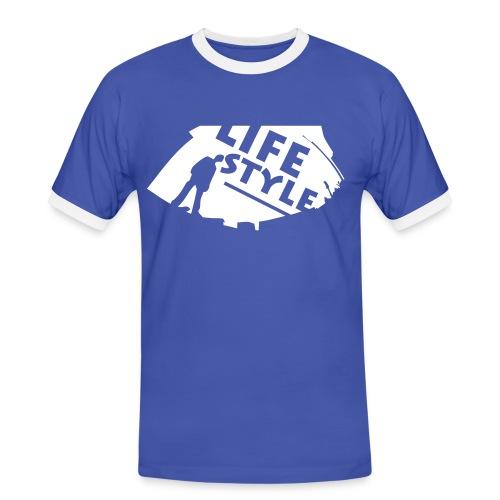 LifeStyle - Männer Kontrast-T-Shirt