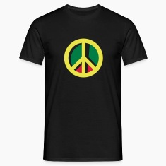 Black peace jamaica T-Shirts