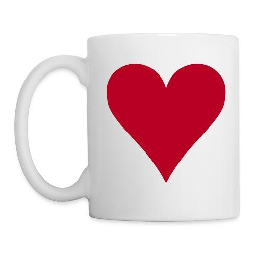 tasse coeur - Mug blanc