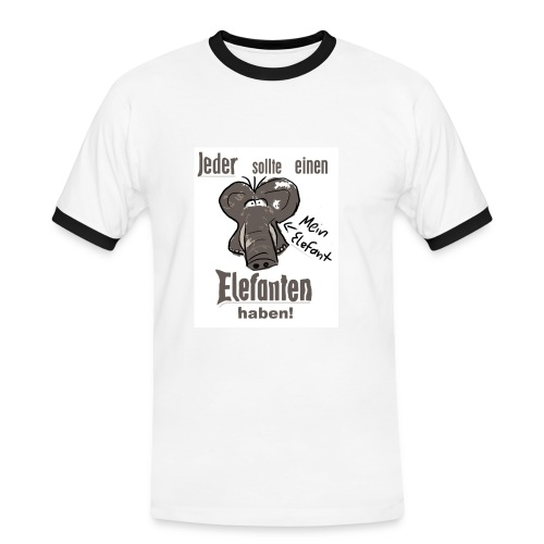 Jeder sollte einen Elefant haben! - Männer Kontrast-T-Shirt