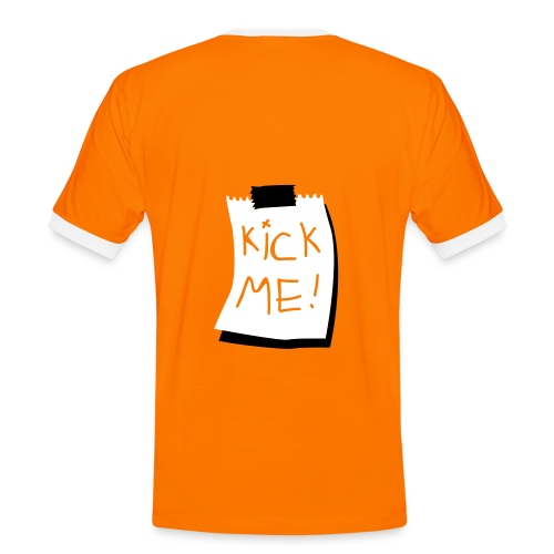 Kick Me! - Kontrast-T-skjorte for menn