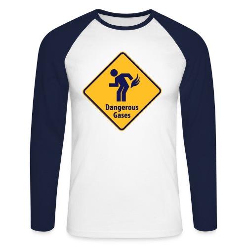 Gas - Langermet baseball-skjorte for menn