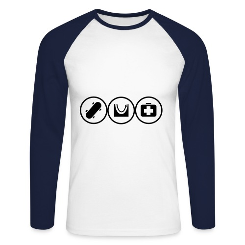 Skateboard - Langermet baseball-skjorte for menn