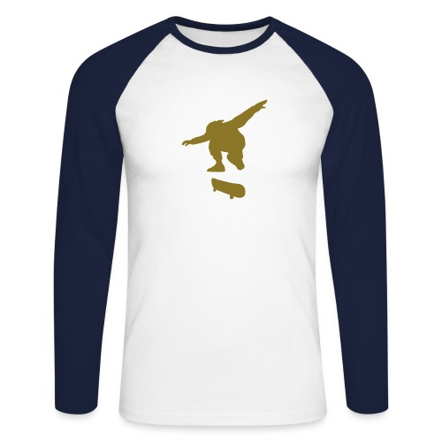 Skate T-shirt - Männer Baseballshirt langarm