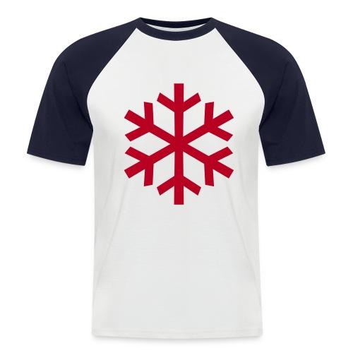 Schneeflocke - Männer Baseball-T-Shirt