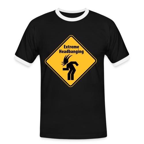 Headbanging t-skjorte - Kontrast-T-skjorte for menn