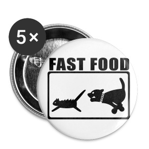 Fast Food button 56mm - Stor pin 56 mm