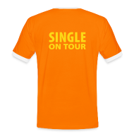 T-Shirts ~ Männer Kontrast-T-Shirt ~ Single on Tour