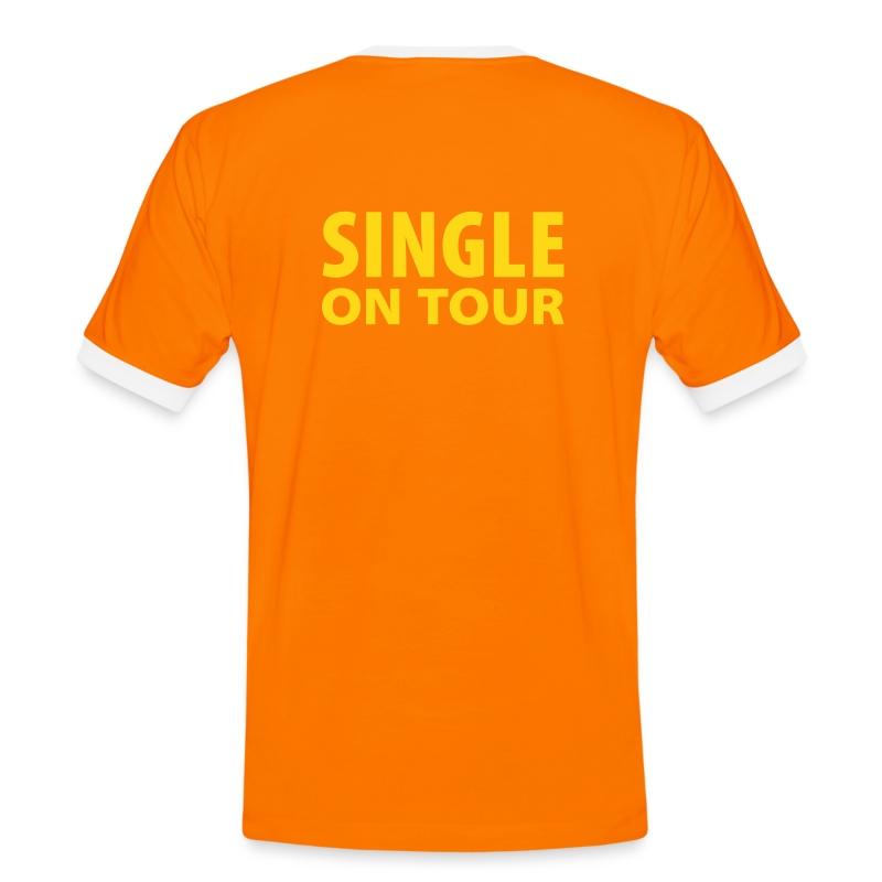Single on Tour - Männer Kontrast-T-Shirt