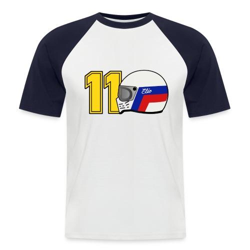 Elio 11 White/Navy - Men's Baseball T-Shirt