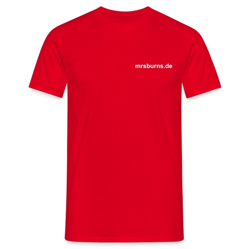 mrsburns.de Men's T-Shirt (rot) - Männer T-Shirt